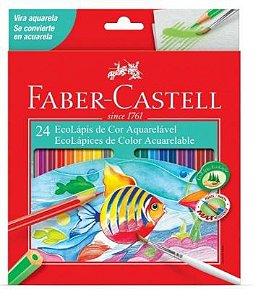 Lápis de Cor com 24 Cores Aquarela -Faber Castell