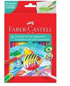 Lápis de Cor Aquarelavel Ecolapis 36 Cores Faber Castell