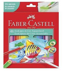48 Eco Lápis de Cor Aquarelável Faber Castell