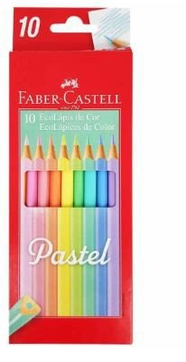 Lápis de Cor 1 0 Cores Pastel Faber Castell