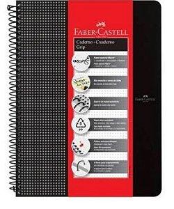 Caderno Grip Pautado Preto 80 Folhas-Faber Castell