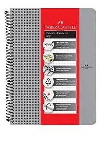 Caderno Universitário Capa Plástica 80 Folhas Grip - Prata