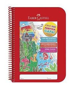 Caderno Criativo Capa Dura Vermelho Faber-castell