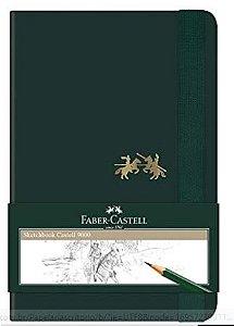 Faber-Castell CDNSKT/PQ Sketchbook Castell 9000 - Caderno sem Pauta, 80 Folhas, Verde