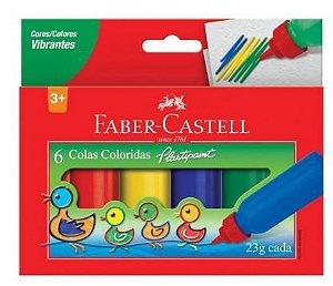 Cola colorida 23g 6 un Faber-Castell