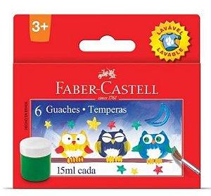 Tinta Guache Com 6 faber Castell