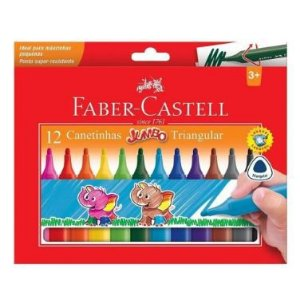 Canetinha Faber-Castell 12 Cores Jumbo Triangular