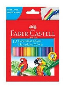 Caneta hidrográfica prestocolor -  com 12 cores - Faber-Castell