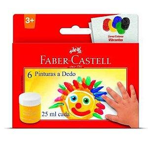 Pintura a Dedo Faber Castell 25ml CX C/ 6 Cores