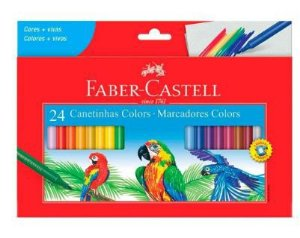 Caneta hidrográfica 24 cores  Faber-Castell