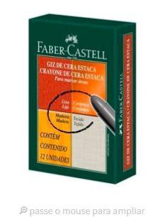 Giz de Cera Estaca Gift C/12 Branco - Faber Castell