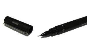 Caneta Nankin Uni Pin Fine Line Preta 0.1mm