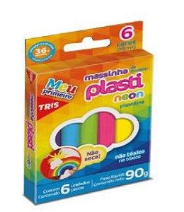 Massa de Modelar 06 cores Plasti Neon - Tris