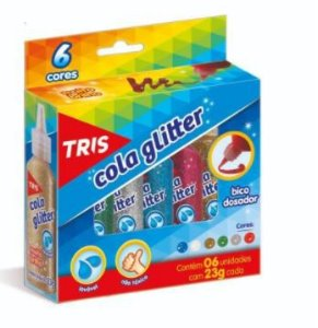 Cola c/ Glitter 06 cores - TRIS