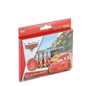 Giz De Cera Jumbo Carros Disney 12 Cores