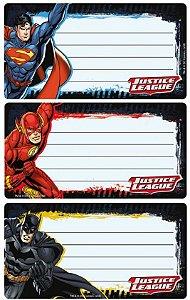 Etiqueta de Identificação Liga da Justiça