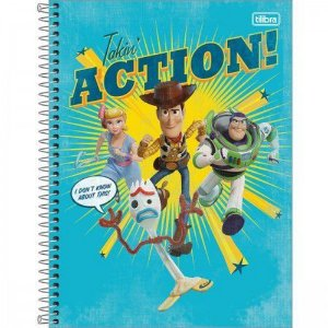 Caderno C/D 01 Materia Toy Story 80 Folhas Tilibra