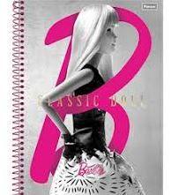 Caderno Barbie 1 Matéria Espiral 96 Folhas