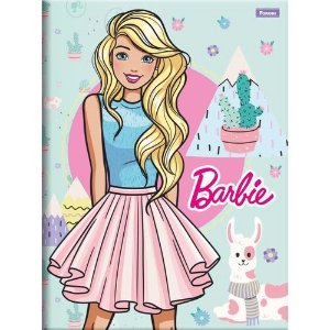 Caderno Brochura 1/4 C/D 96 Folhas Barbie Foroni