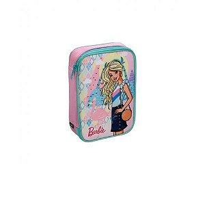 Estojo Box Barbie Core P/100 Lápis 5914 Rosa.
