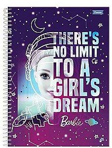 Caderno Espiral Capa Dura Universitário Barbie Fashion, Foroni 10 Matérias 200 Folhas