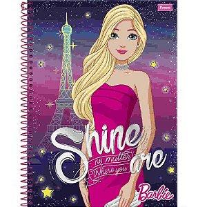 Caderno 12 matérias  240 Folhas Barbie Foroni