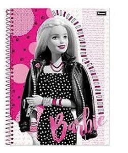 Caderno universitário 10 matérias BARBIE GLAMOUR com 200 folhas - Foroni