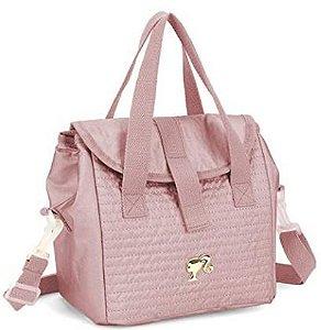 Lancheira S/Acessórios Barbie Ouro Rosa  Luxcel