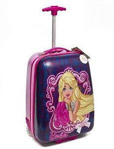 Mochila De Rodinhas Barbie 17pc Roxa Infantil Original
