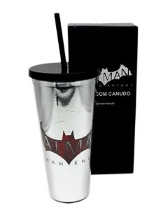 Copo Canudo Batman Arkham Knight 650 Ml