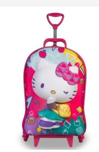 Kit Mochila 3d Diplomata Hello Kitty C/ Lancheira