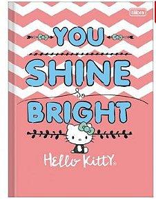 Caderno Brochura Capa Dura Hello Kitty 96 Folhas