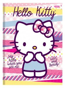 Caderno Brochurão Capa Dura Costurado 48 Fls 200x275 Hello Kitty