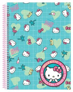 CADERNO 1X1 HELLO KITTY.