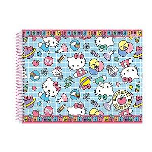 Caderno De Cartografia E Desenho Hello Kitty 60 Folhas Sao Domingos
