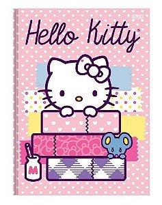 Caderno Brochura Capa Dura Hello Kitty 48 Fls