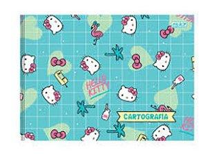 caderno de desenho e cartografia broch. hello kitty 48fls - Sâo Domingos