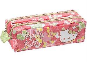Hello Kitty - Estojo Escolar Duplo Butterfly Rosa Hello Kitty