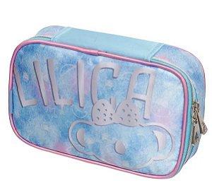 Estojo Box  Com Divisória Lilica Space -