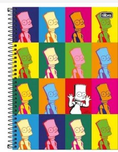 Caderno Universitário Simpsons 01 Matéria 96 Folhas Tilibra