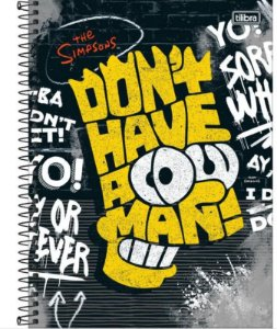 Caderno Univ 1x1 80f Cd  Simpsons Tilibra