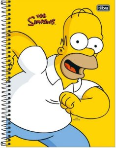Caderno Univ 1x1 80f Cd 308137 Simpsons Tilibra