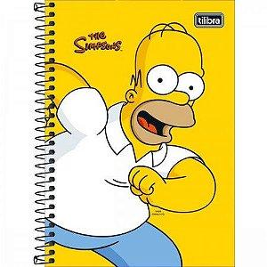Caderno 1/4 C/D 80 Folhas Simpsons Tilibra