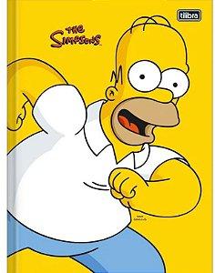 Caderno Brochurao 80f Cd Simpsons Tilibra