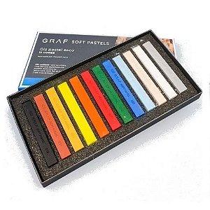 Giz Pastel Seco Graf Soft Pastels 12 Cores Básicas Cis