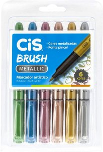 CIS Brush Metallic - Marcador Artístico, Multicor
