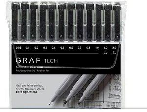 Caneta Tecnica Graf Tech C/12 Unidades Fineliner Cis