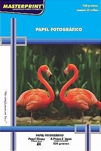 PAPEL GLOSSY 230G 20FL A4 - MASTERPRINT