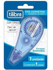 CORRETIVO EM FITA 5MMX6M AZUL - BLISTER COM 1 UNIDADE