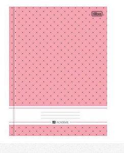 Caderno Brochura Capa Dura Universitário 96 Folhas Académie Rosa Tilibra